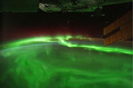 Poollicht vanuit het ISS gezien