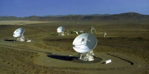 NASA's Goldstone Deep Space Communications Complex in Californië