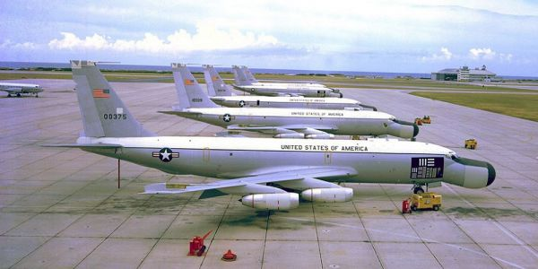 ARIA vliegtuigen in 1969 op de Patrick Air Force Base in Florida.