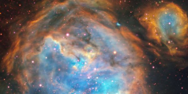 Dit wonderschone gebied van sterren-in-wording in de Grote Magelhaense Wolk (GMW) is vastgelegd met het Multi Unit Spectroscopic Explorer-instrument (MUSE) van de Very Large Telescope van ESO.